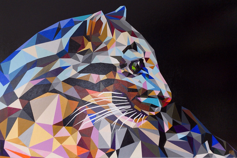 Colorful Leopard - SOLD