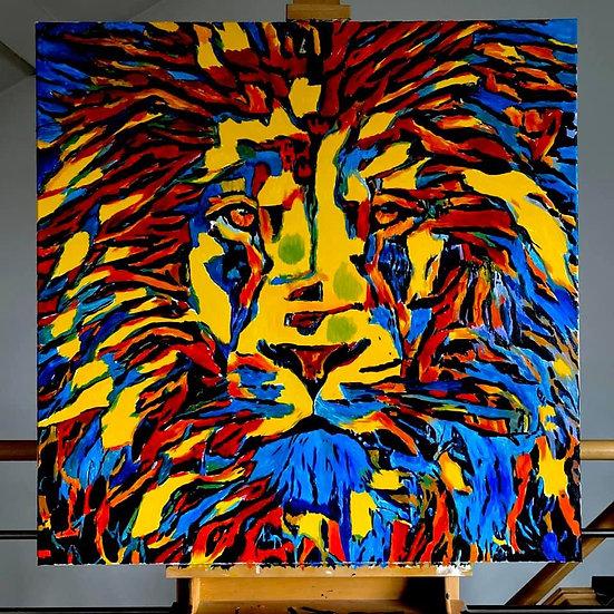 Crazy Colorful Lion