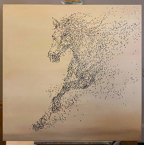 Galloping Horse - 100 x 100 cm