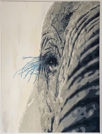 Elephant - blue eyelashes