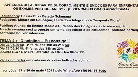 Curso em junho Rio Claro