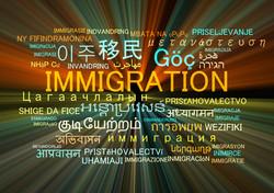 Background concept wordcloud multilanguage international many language illustration of immigration g