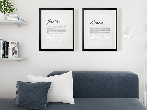 Custom Vows Prints - Text Only