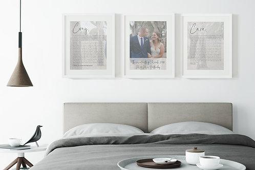 Custom Vows Prints - Photo Backdrop