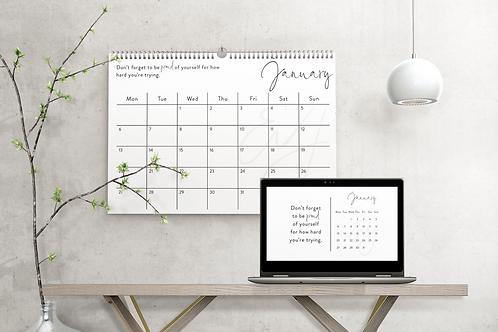 2020 Calendar - Landscape