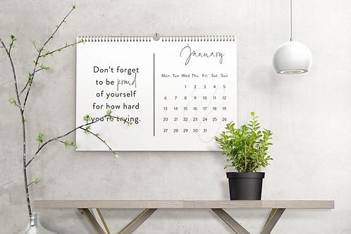 2020 Calendar - Quote Design