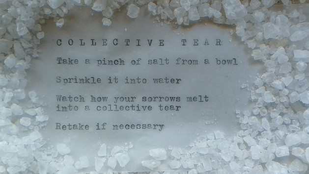 Kollektiivinen kyynelneste  /  Collective Tear, 2019
