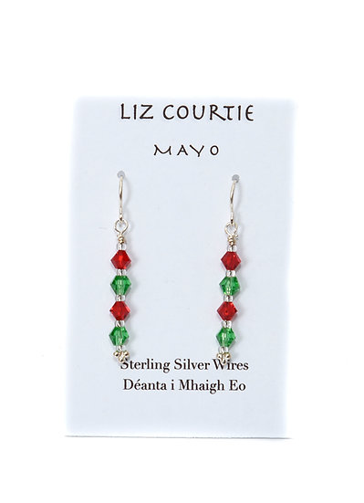 Liz Courtie Handmade Red & Green of Mayo Earrings 002