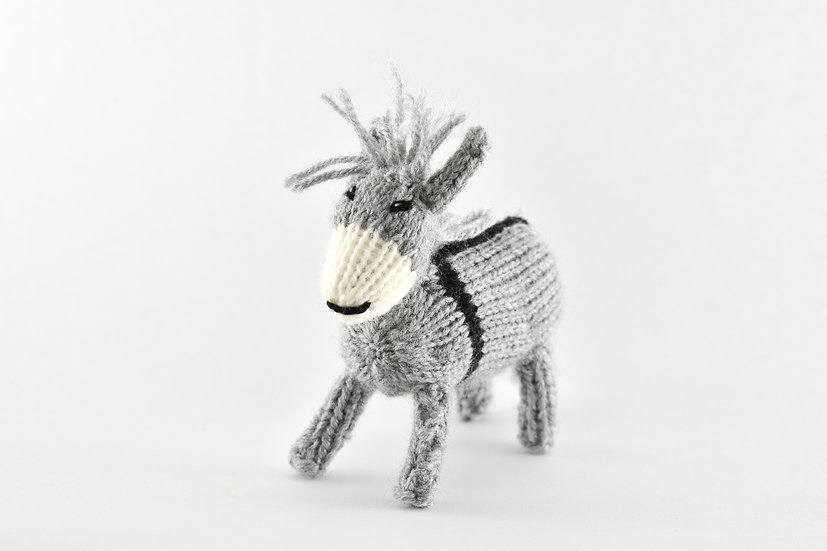 Clare's Crafts Hand-Knit Donkey