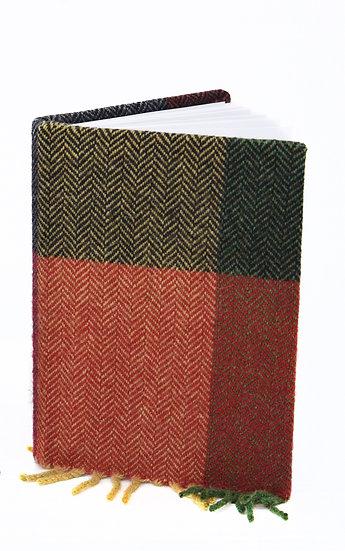 Liz Courtie Handmade Journal – Red & Green