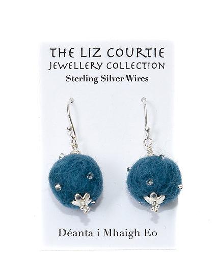 Liz Courtie Handmade Lambswool Earrings