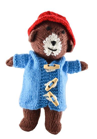 Clare's Crafts Hand-Knit Paddington Bear