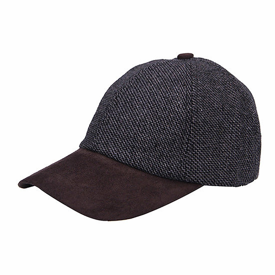 Heritage Traditions Grey Twill Tweed Suede Baseball Cap
