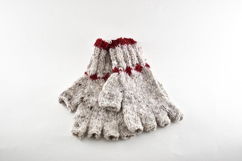 Back to Back Natural Grey Half Finger Gloves