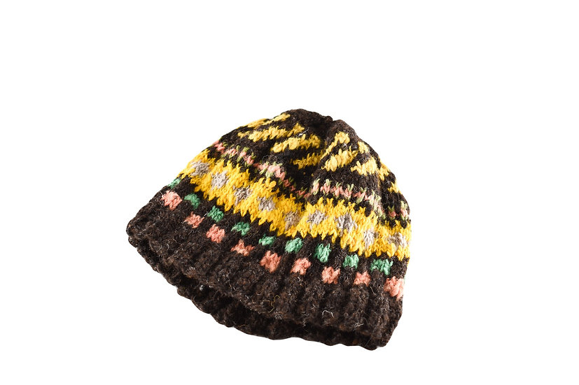 Back to Back Yellow & Brown Striped Beanie