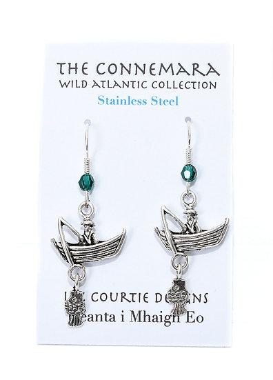 Liz Courtie Handmade Stainless Steel Fishing Boat Earrings