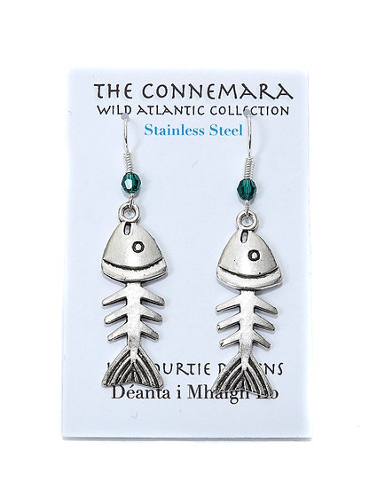 Liz Courtie Handmade Stainless Steel Wild Atlantic Fish Earrings