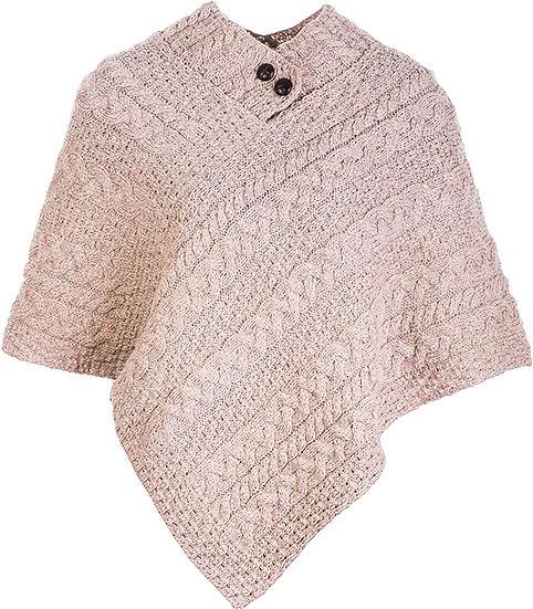 Aran 100%Merino Wool Women's Poncho