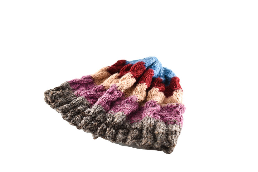 Back to Back Multicolour Striped Beanie