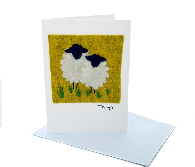 Dolly Rockers Felt Greeting Card 001