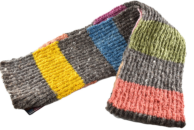 Back to Back Hand-Knitted Multicolour Scarf 02