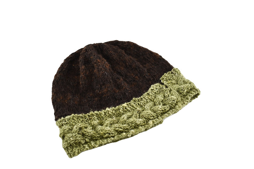 Back to Back Brown & Green Beanie