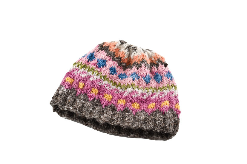 Back to Back Pink Striped Beanie