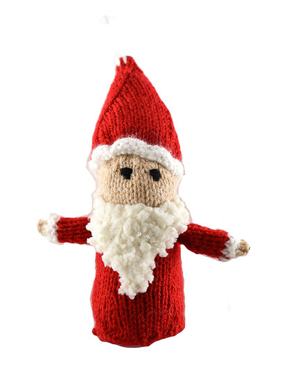Clare's Crafts Hand-Knit Santa