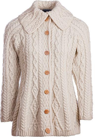 AranSupersoft Merino Wool Women`s Cardigan