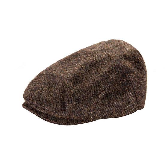 Heritage Traditions Men's Tweed Wool Mix Cap – Brown