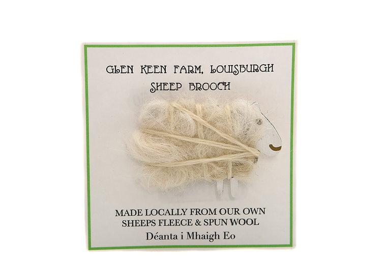 Liz Courtie Glen Keen Handmade Sheep Brooch – White