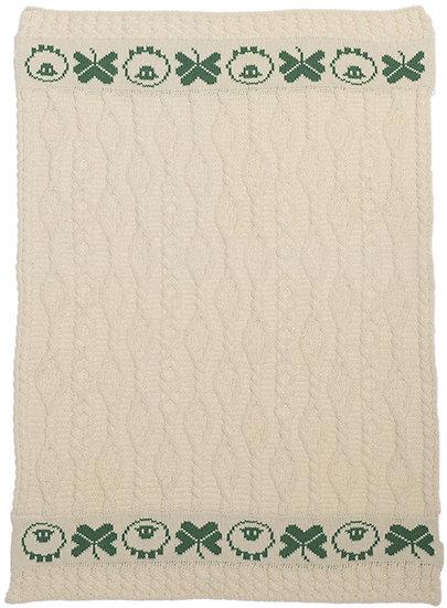 AranMerino Shamrock Blanket