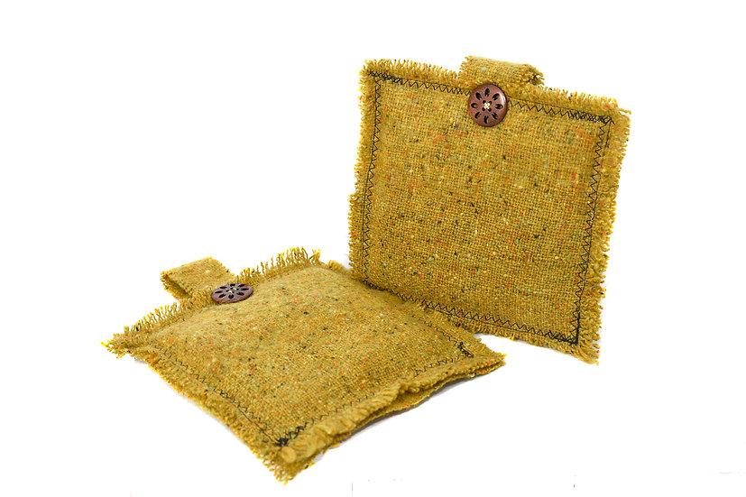 Liz Courtie Handmade Wool Pot Holders - Set of 2
