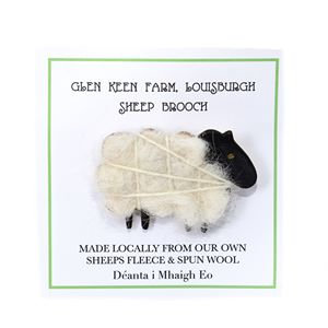 Liz Courtie Glen Keen Handmade Sheep Brooch – Black