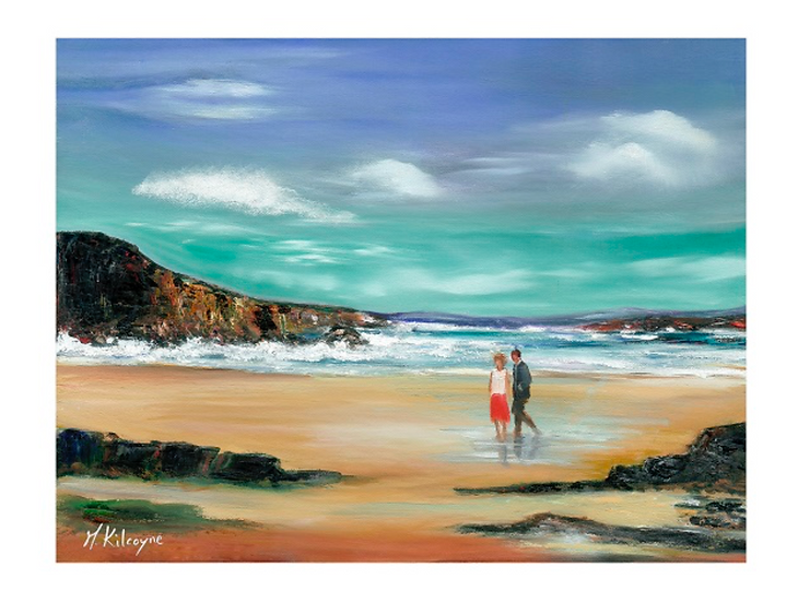 Maura Kilcoyne - 'A Stroll on the Beach'