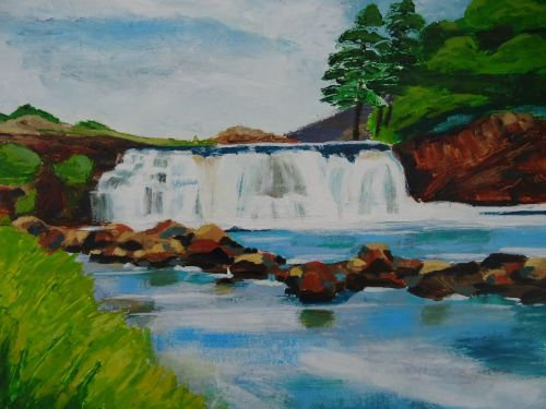 Cards from Ireland – Aasleigh Falls, Co. Mayo