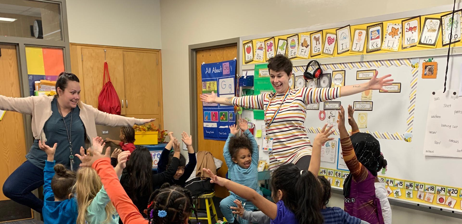 Kerfuffle Teaching Artist in school