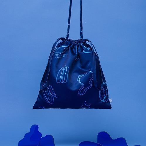 BAG ! Small Blue BAG 深藍束口包