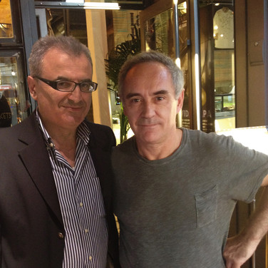 With Ferran Adria, Barcelona, 2014