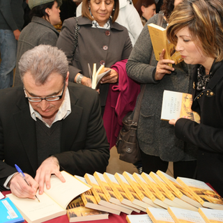 Signing books, Cyprus, 2011