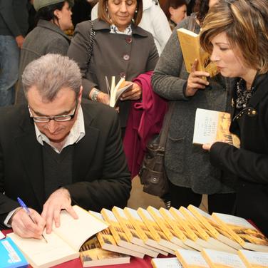 Signing books, Cyprus, 2011