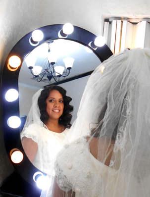 Bridal makeup a hairstyle