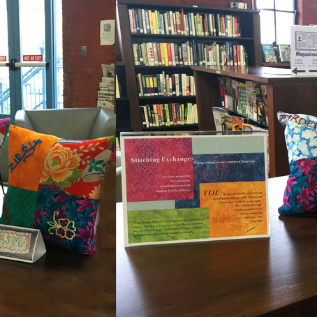Pillows proudly on display!