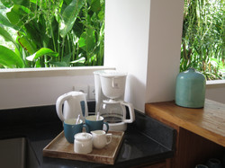 Free flow of coffee, tea and water