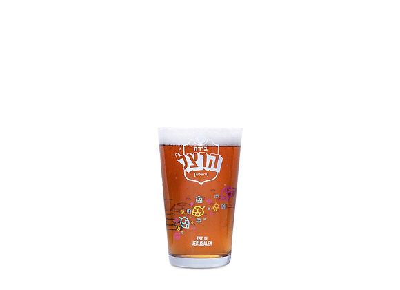 כוס בירה זכוכית הרצל