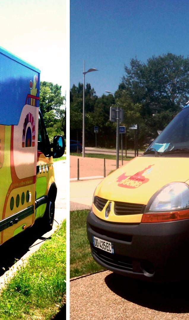 graphisme - Adhésif véhicule - Total covering Food truck
