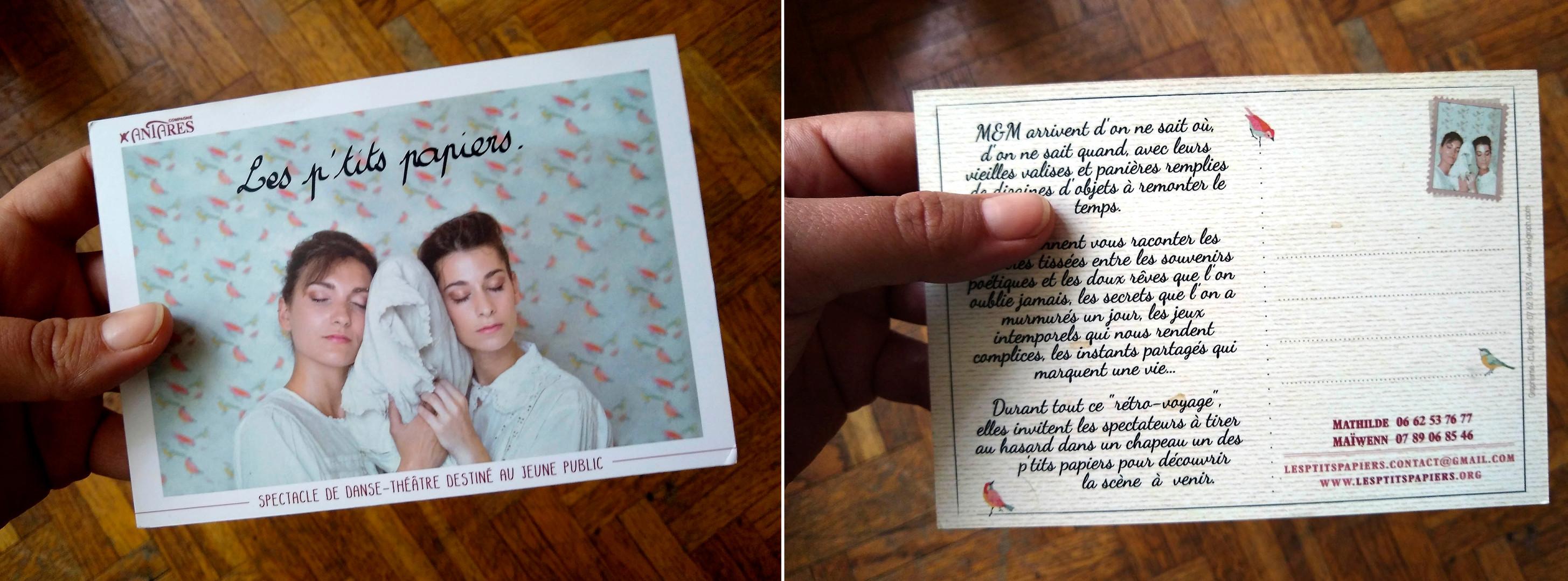 Tract au format carte postale - les petits papiers