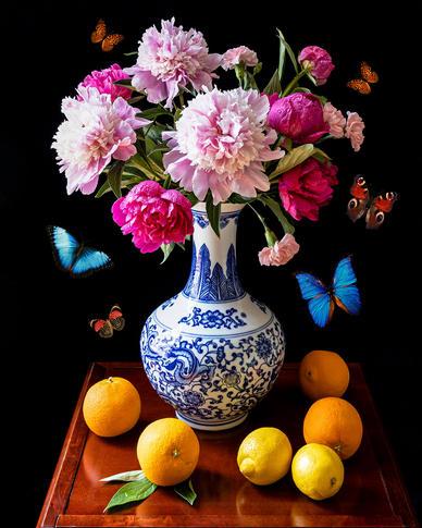 Peonies, Oranges and Lemons