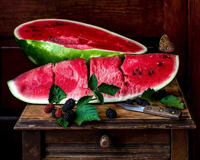 Watermelon and Blackberries