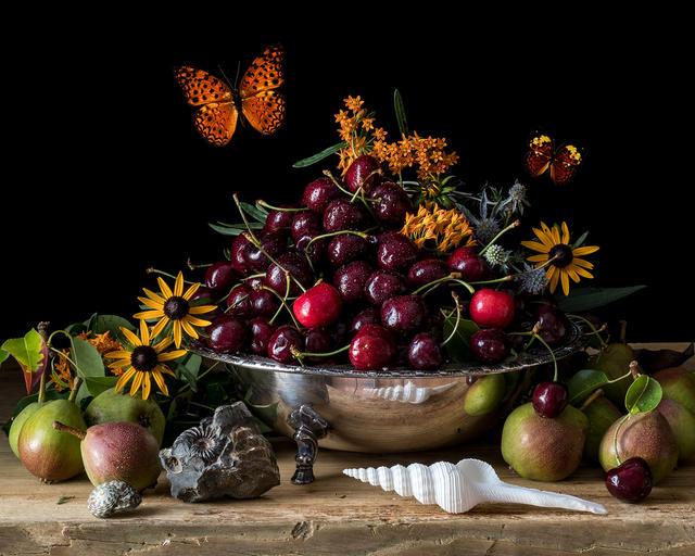 Cherries and Seashell